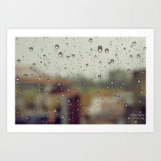 Drops. Art Print