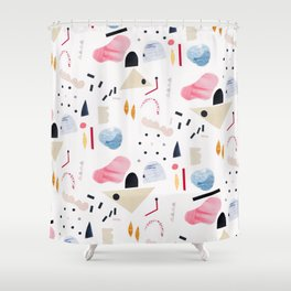 toy piano Shower Curtain