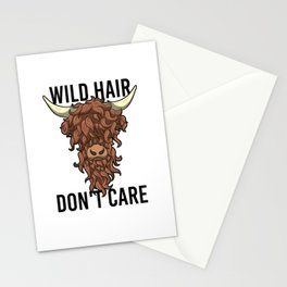 Wild Hair Don't Care Hipster Hairstyles Gift Stationery Cards