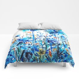 thickets of cornflowers Comforters