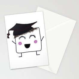 MyHappySquare with a graduation hat Stationery Cards