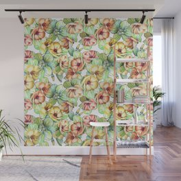 Floral pattern with flowers Wall Mural