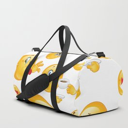 Emoji Pattern Duffle Bag