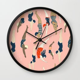 Vintage diving ladies Wall Clock