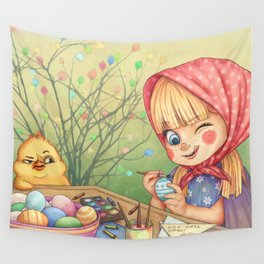 Easter Fun Wall Tapestry