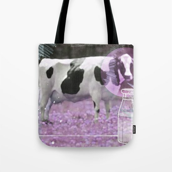 Milk comes from a bottle Tote Bag