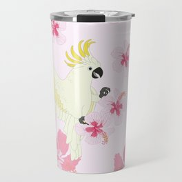 Polly's Pink Hibiscus Party Travel Mug