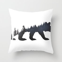 Pacific Northwest Bear Throw Pillow
