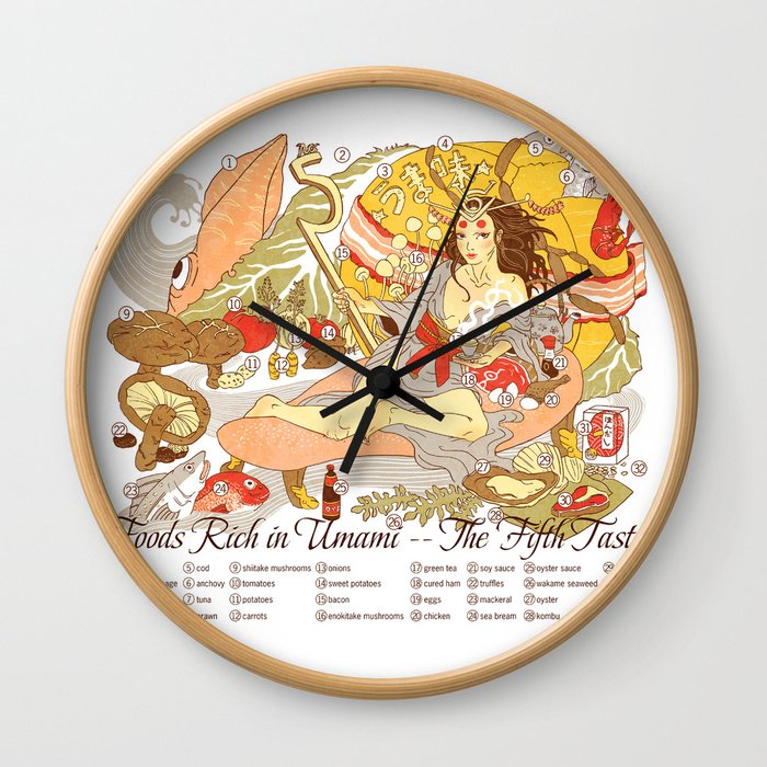 The Fifth Taste: Umami Wall Clock