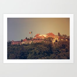 The Medieval Fortess of Brasov Art Print