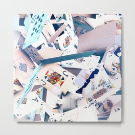 Flying playing cards Metal Print