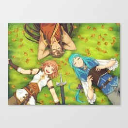 Autumn's Journey - on the grass Canvas Print