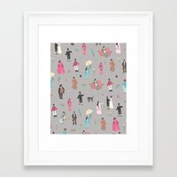 pride and prejudice Framed Art Prints featuring Pride and Prejudice by Sara Maese