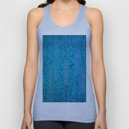 Ancient egyptian blu Unisex Tank Top