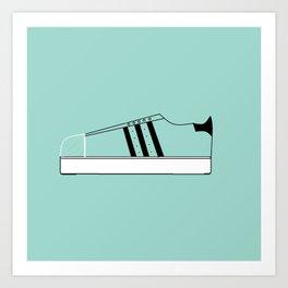 Low Top Stripe Art Print
