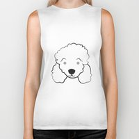 poodle Biker Tanks featuring Poodle by anabelledubois