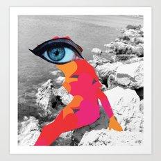 SiLuEtte 1 woman Art Print