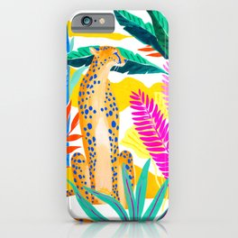 Panther in Jungle iPhone Case