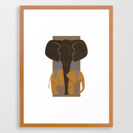 Elephant Mother and Child Framed Art Print