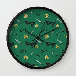 Commander Lexa Pattern Wall Clock