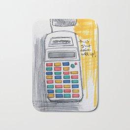 Sassy Calculator Bath Mat