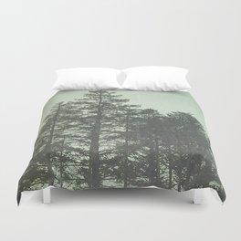 Trees in Fog Duvet Cover