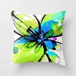 Ecstasy Bloom No.17k by Kathy Morton Stanion Throw Pillow