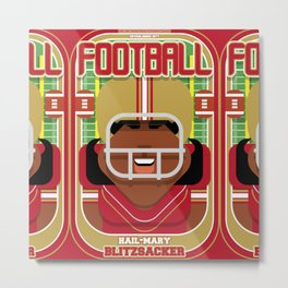American Football Red and Gold - Hail-Mary Blitzsacker - Aretha version Metal Print