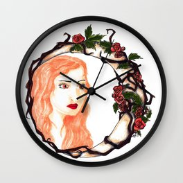 Lunar Rose Wall Clock