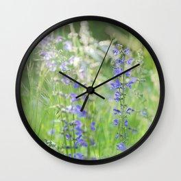 meadow sage Wall Clock