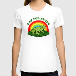Gay For Frogs T-shirt