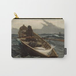 The Fog Warning / Halibut Fishing by Winslow Homer Carry-All Pouch
