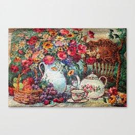 Vintage Tea Party Bouquet Canvas Print