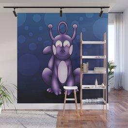 Purple alien pet Wall Mural