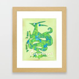 Capricorn Poster Framed Art Print