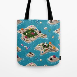 Trash Islands Tote Bag