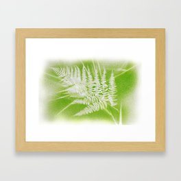 Airbrushed bracken frond and grasses Framed Art Print