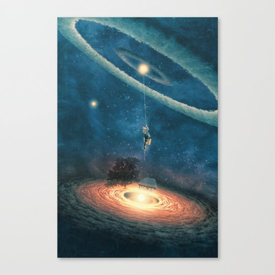 My dream house is in another galaxy Canvas Print