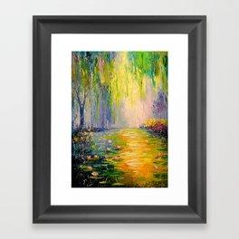 Fabulous pond Framed Art Print