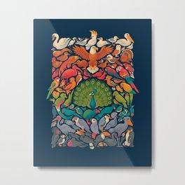 Aerial Spectrum : Blue Metal Print