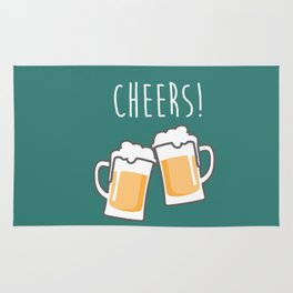Cheers for peers with beer - Enjoy beer day with your friends Rug