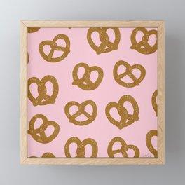 Pretzel Pattern – Blush Framed Mini Art Print