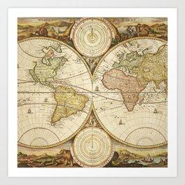 Mapamundi Art Print