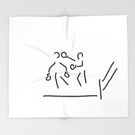 punch boxer boxing match Throw Blanket