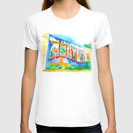 Greetings From Austin Mural watercolor T-shirt