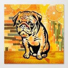 Pug pop art Canvas Print