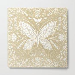 Folk Butterfly Metal Print