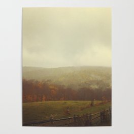 Misty Fall in Vermont Poster