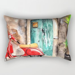 Vespa in italian portal Rectangular Pillow