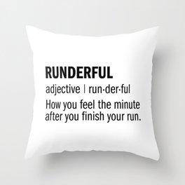 RUNDERFUL Throw Pillow